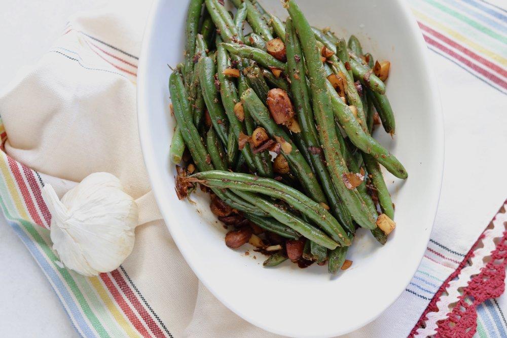 Garlic Almond Green Beans I'd Eat That Food