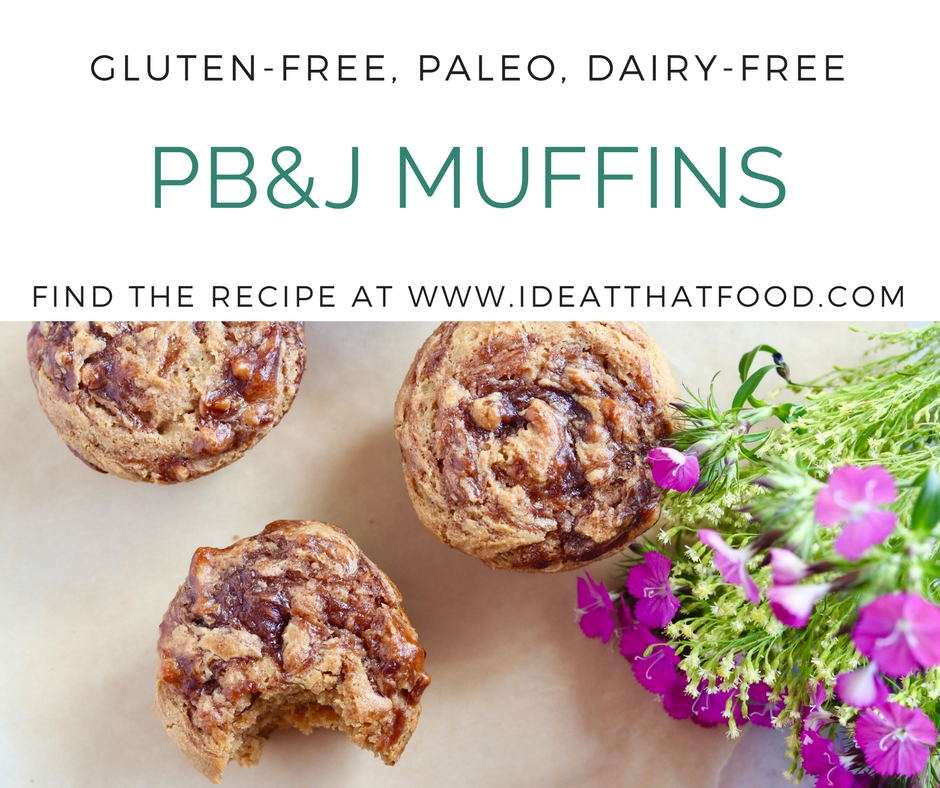 Grain-Free PB&J Muffins by I'd Eat That Food