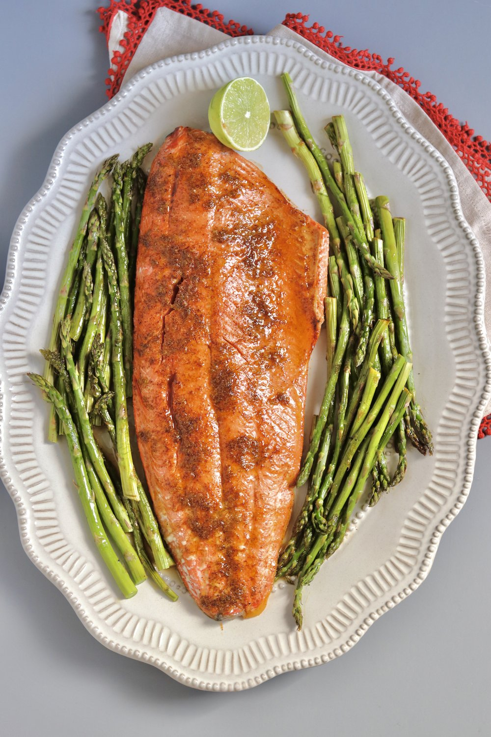 Honey Lime Salmon Sheetpan Dinner by I'd Eat That Food