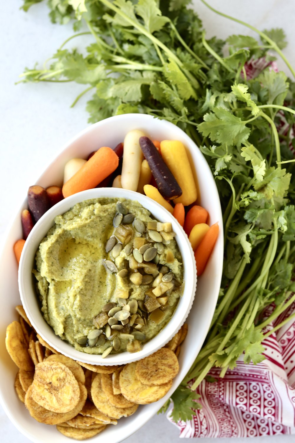 Spicy Cauliflower Dip by I'd Eat That Food