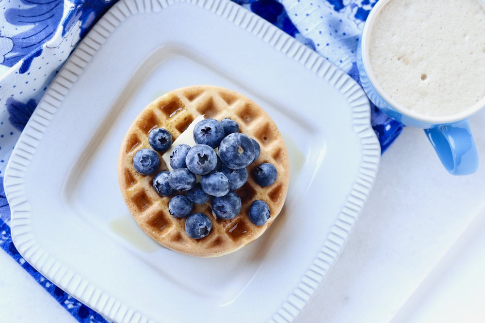 Crispy Grain-Free Waffles by I'd Eat That Food