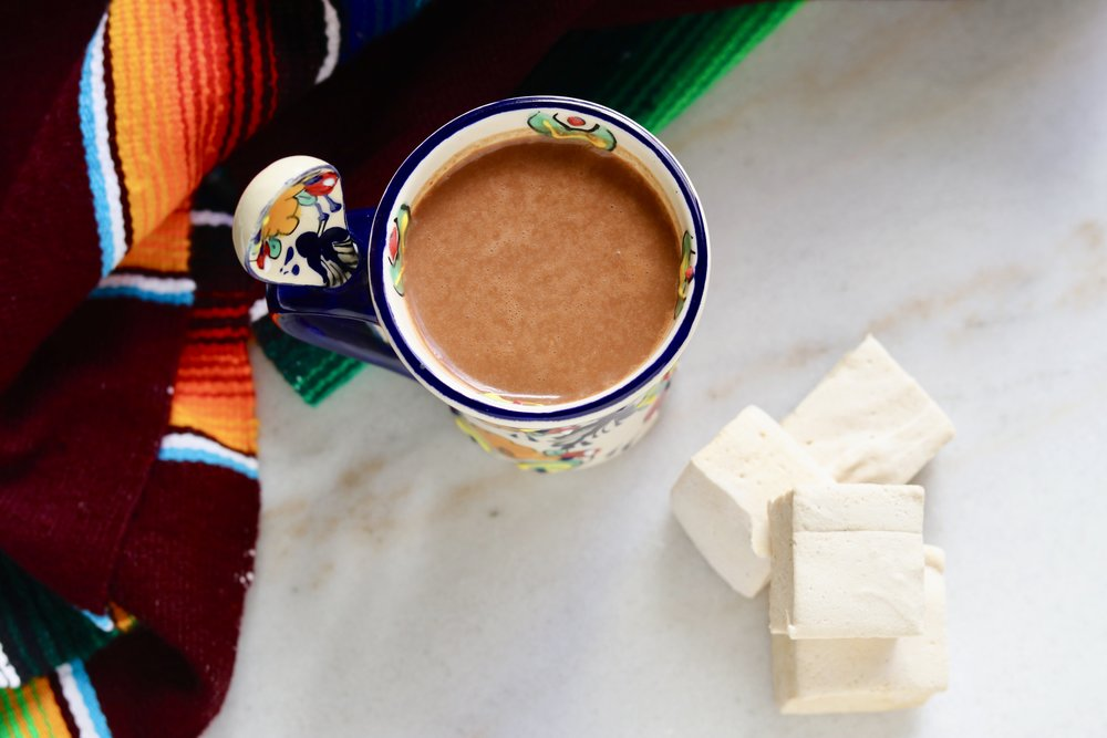 Mexican Hot Chocolate with Spicy Marshmallows by I'd Eat That Food