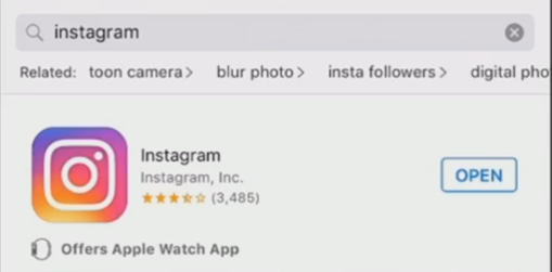 how do i install instagram on my apple watch