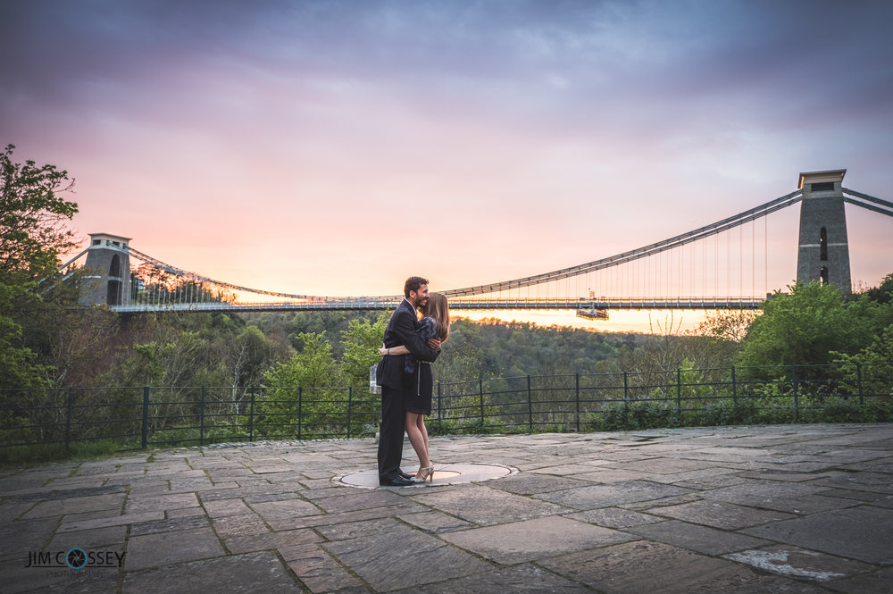 At the end of the shoot as the sun started to set the sky came alive and with the suspension bridge as the backdrop it provided us with a magical ending.