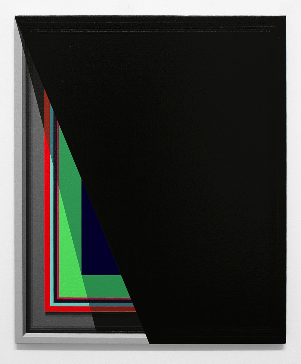 Severed Hue (Black)   2013  Acrylic on canvas  22 x 18 inches  (55.88 x 45.72 cm)