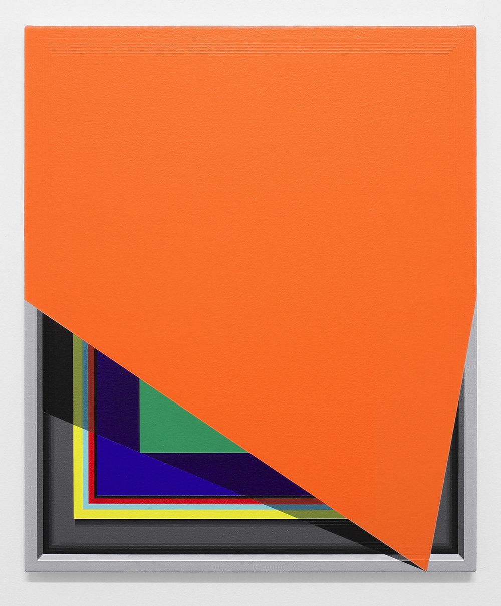 Severed Hue (Orange)   2013  Acrylic on canvas  22 x 18 inches  (55.88 x 45.72 cm)