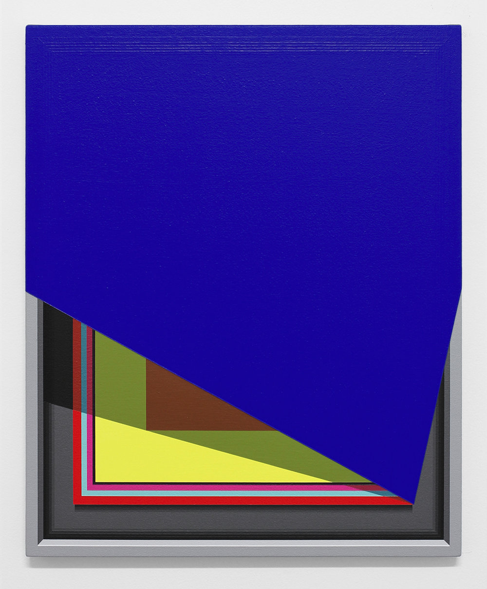 Severed Hue (Cobalt Blue)   2013  Acrylic on canvas  22 x 18 inches  (55.88 x 45.72 cm)