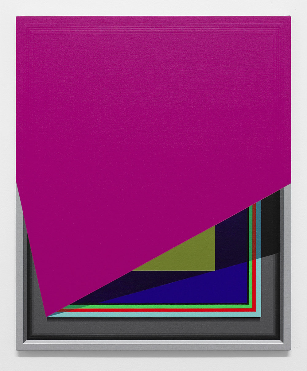 Severed Hue (Magenta/Red)   2013  Acrylic on canvas  22 x 18 inches  (55.88 x 45.72 cm)
