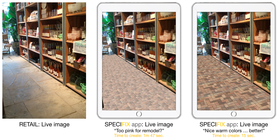 Augmented reality, pavers