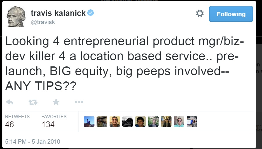 Click to see how a series of tweets led to what we know as Uber today (really interesting)