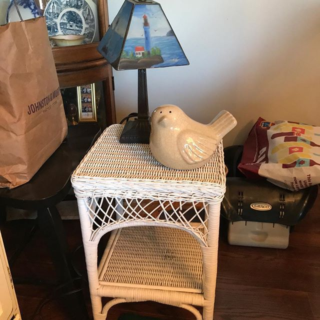 Wicker side table,others available