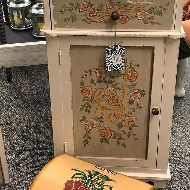 Small cabinet great for a bathroom or small space