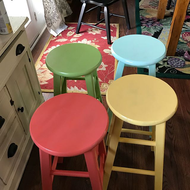 Summer is here nice bright stools come check them out