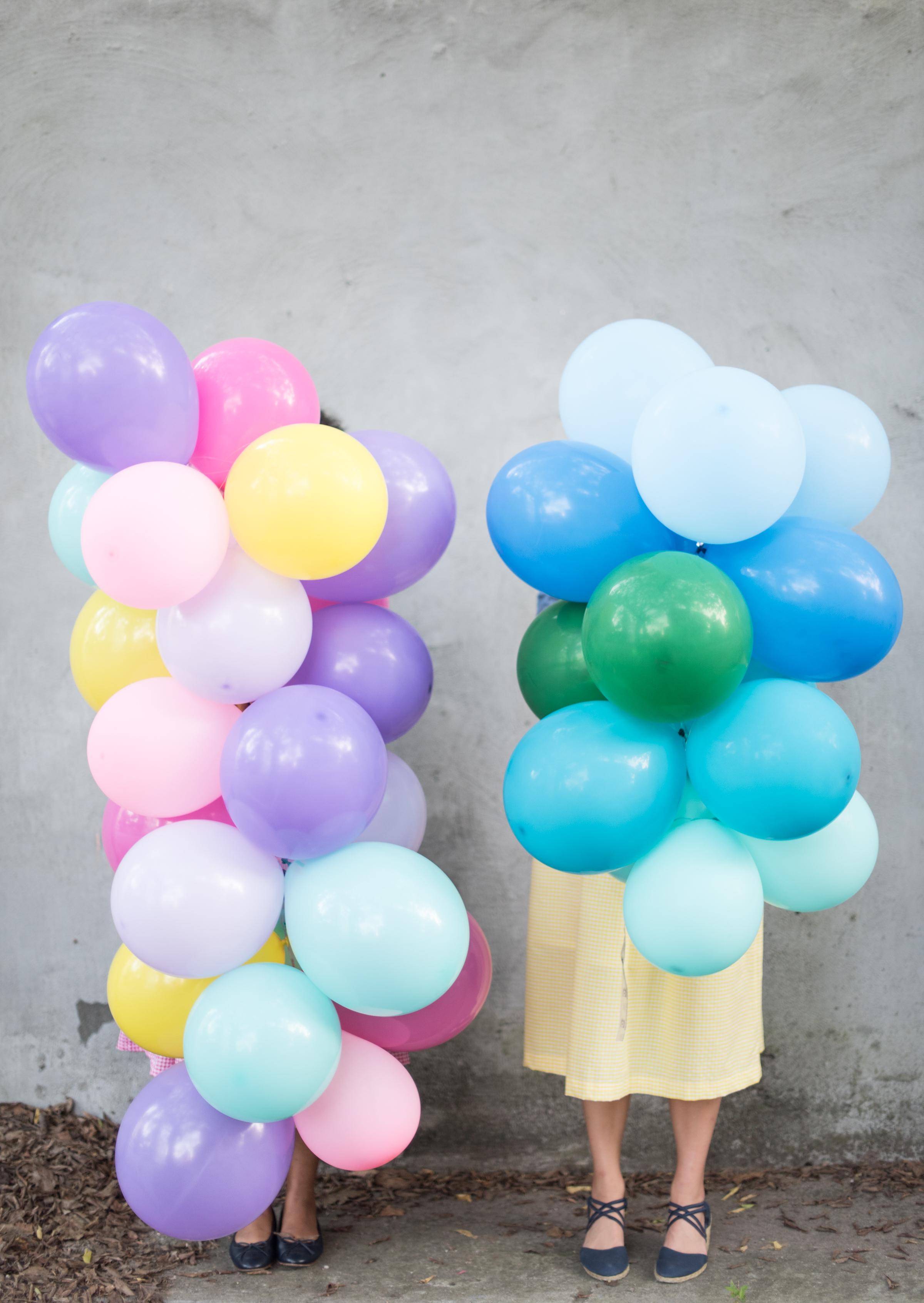 balloon garland tutorial