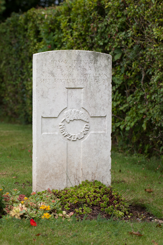 Here lies Private Maaka - 31st August 1919 – age 29.