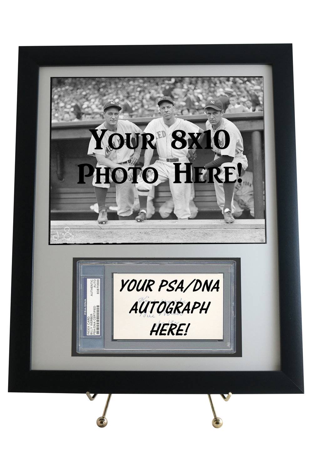 PSA/DNA SLABBED FRAMED DISPLAYS                       STARTING AT ONLY $39.95                 WITH OR WITHOUT 8X10 OPENING    MANY VARIATIONS/OPTIONS TO CHOOSE FROM!