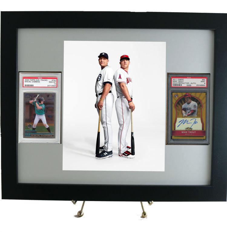 Framed displays for PSA graded sports cards — PSAFRAMES.COM