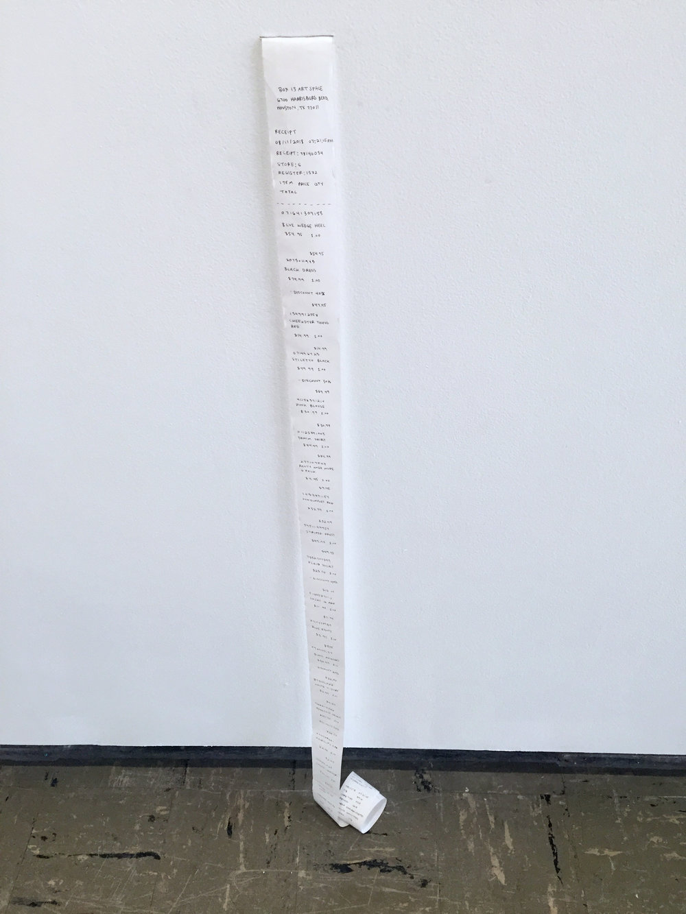 receipts , receipt paper, pen, 2018