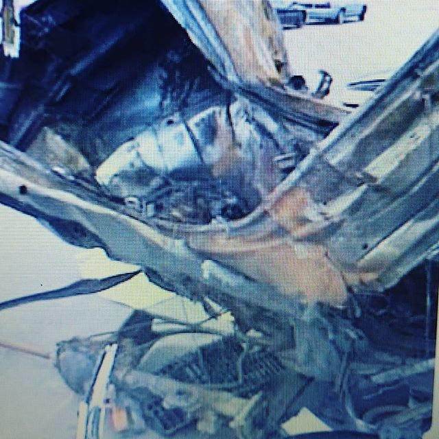 As hard as this picture is to post, it would be harder if I knew it might save a life and I didn't post it. This was Kenny's car after the collision. Please, please drive safely, your life depends on it!  #stayalivewhileyoudrive  #inourmemory