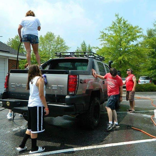 We wash cars to bring awareness to teen fatalities!