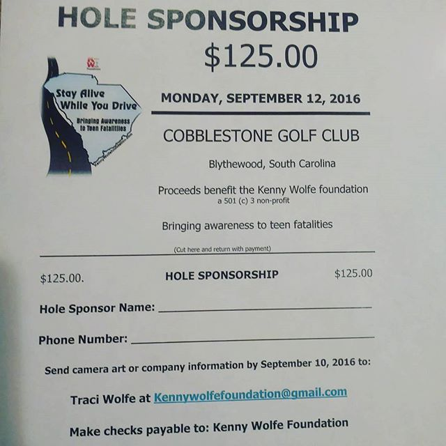 Hole sponsors needed!