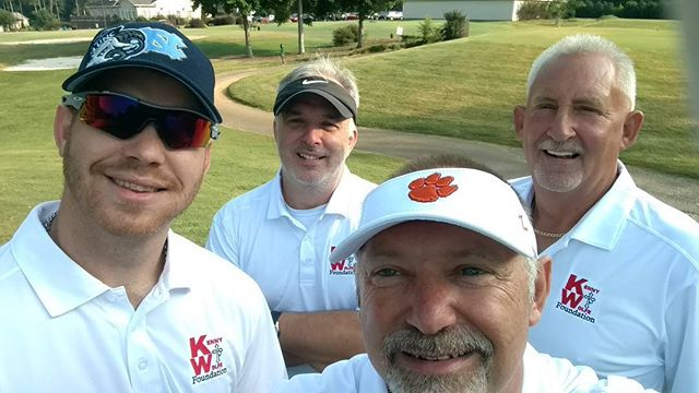 Kenny Wolfe Foundation playing in the 4th Annual Bryan Benton Memorial Foundation golf tournament. Thanks for allowing us to participate.