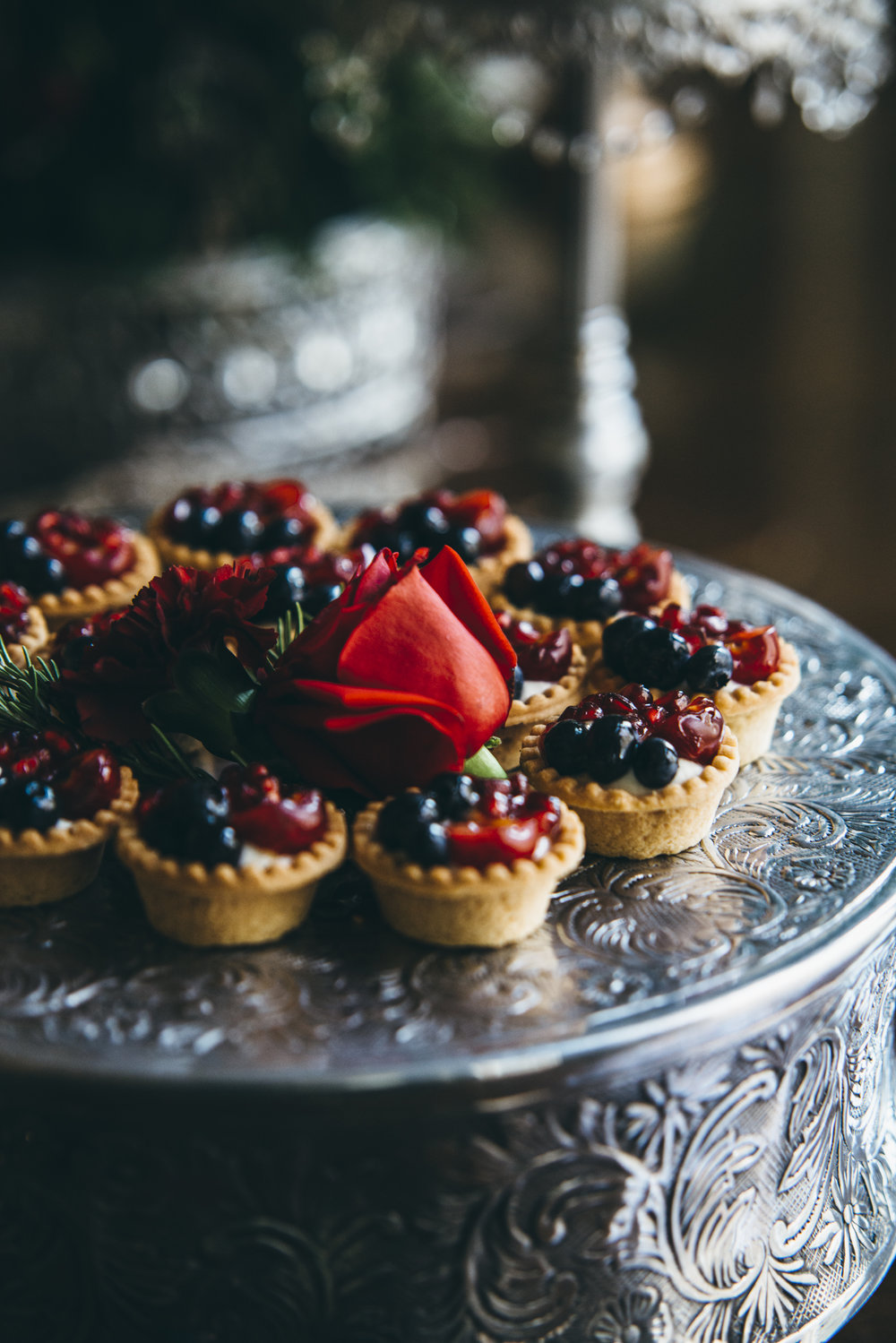 Fruit tarts - – vanilla bean, pastry cream, fresh berries, apricot glaze