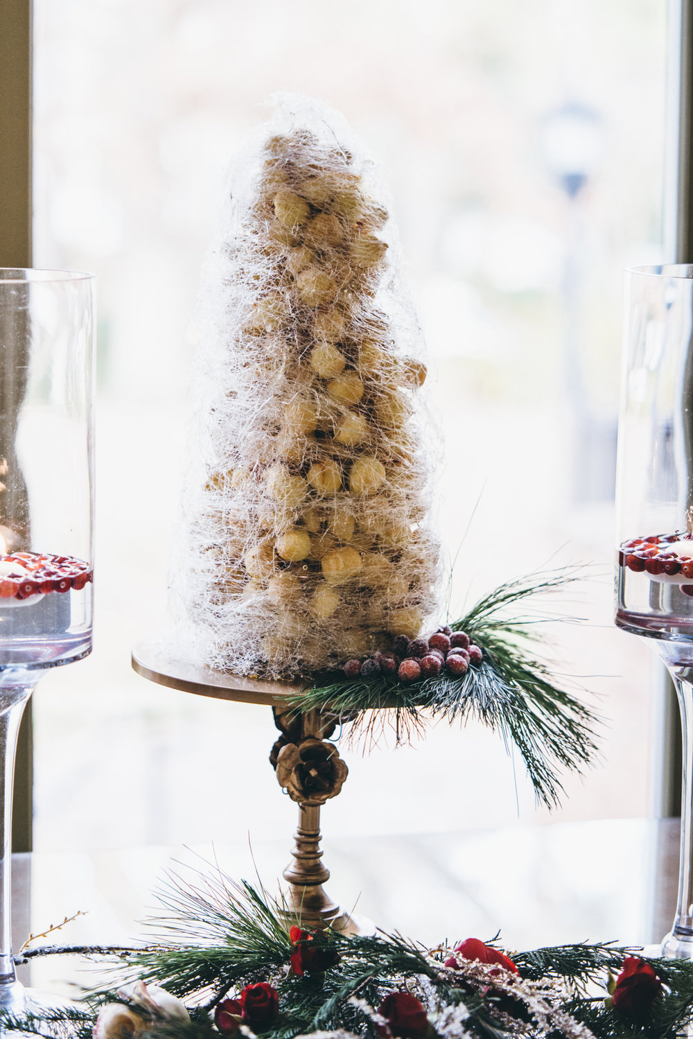 Croquembouche - – cream puffs, finely spun sugar
