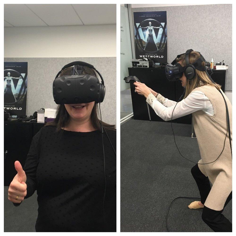 Filter Talent Solution Partner Rain Blond and Client Partner Megan Burke visit Westworld!
