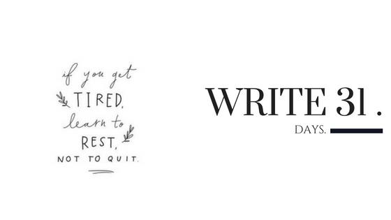 Kara Nothnagel - Write 31 Days - R E S T