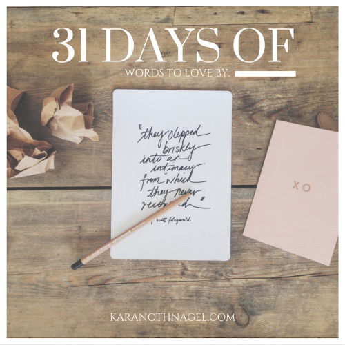 Write 31 Days Kara Nothnagel
