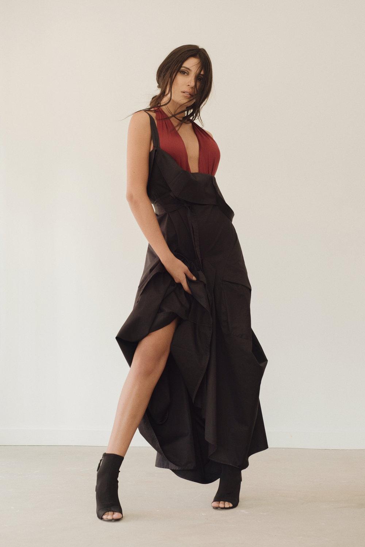 Body. Oysho / Dress. María Elena Villamil