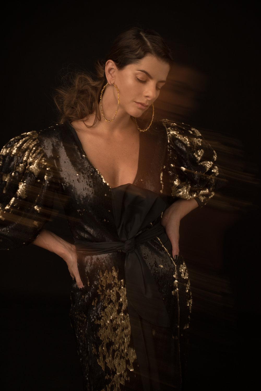 Dress. Alexandra Bueno / Earrings. Adriana Tavera
