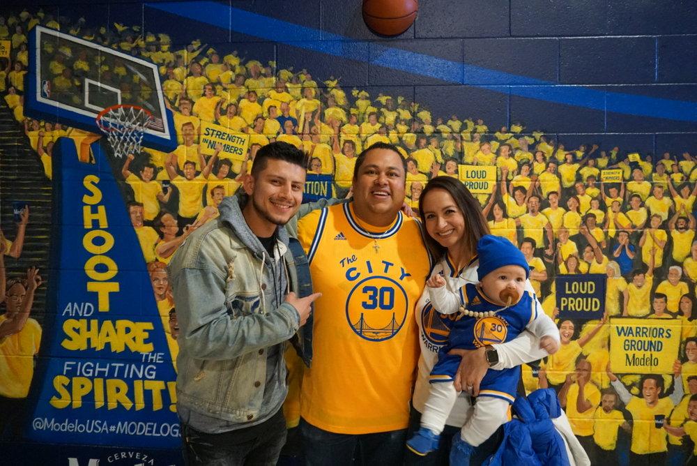 Adolfo, Carolina, and Sebastian the definition of a Warriors Family!