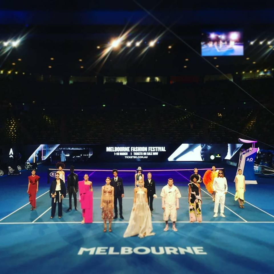 MELBOURNE AUSTRALIAN OPEN -JANUARY 2017  'Mysterious Gown' televised to 450,00 viewers as part of Virgin Australia Melbourne Fashion Festival