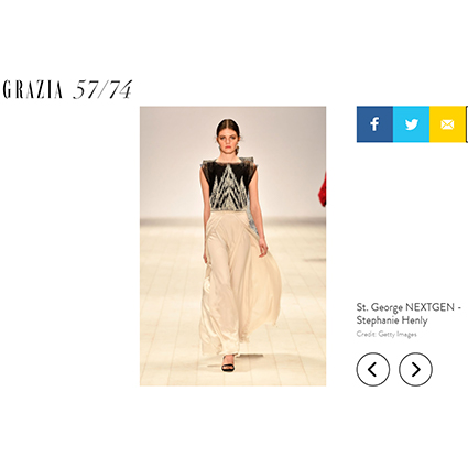 GRAZIA - 2017  Grazia online collection coverage of Mercedes-Benz Fashion Week 2017