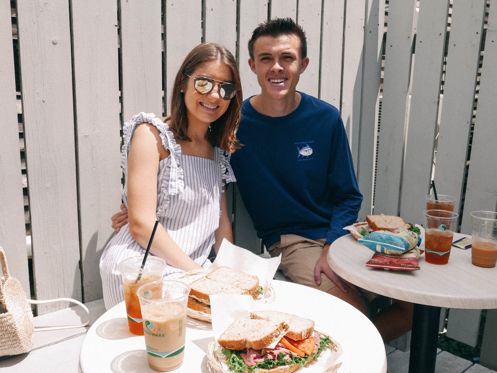 Claudette's - The sandwiches here are delicious to say the least. Grab an iced tea and sit outside in the sunshine. It is located right beside the Siasconset location of CJ Laing.