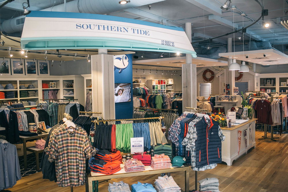 SOUTHERN TiDE - I've ordered Southern Tide online for years, and it's totally new to me to actually be in a Southern Tide store! It opened this summer on the island and trust me everyone in my family stopped in.