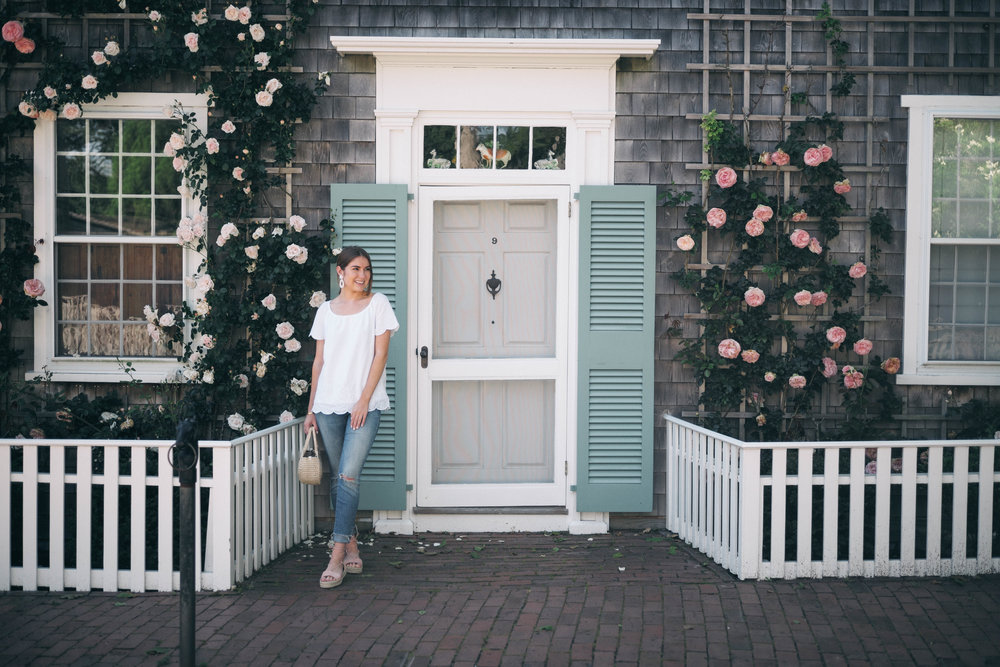 Walk through the historic district - The rental home my family stayed at was just a few minutes from town, and our walk took us through the Historic District, a beautiful area that'll bring you through rose covered homes and tall pieces of history.