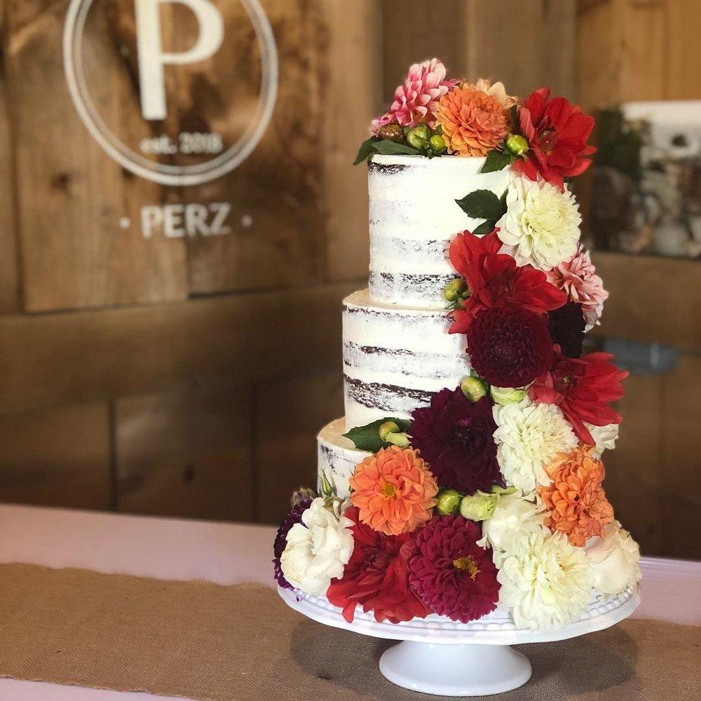farmer's market flower cake