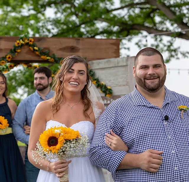 Congratulations, Newlyweds (@cmees77 + @isaiahgshipman )! 😍  We love you - Have a blast on your Honeymoon! ❤️ A HUGE thanks to these wonderful vendors:  Photography: The Westerns Photography Venue: Trumpet Vine Farm Hair: @dmees_0987 & Kristy Scheivert Noel Officiant: Mark Gittens Planner: Patsy Earle Ayers Caterer: @djs_catering Videography: An Affair To Remember Video DJ: @djjeffbaker Rentals: @grandrentalstationwincva Dress: The Barn Bridal and Formal Wear