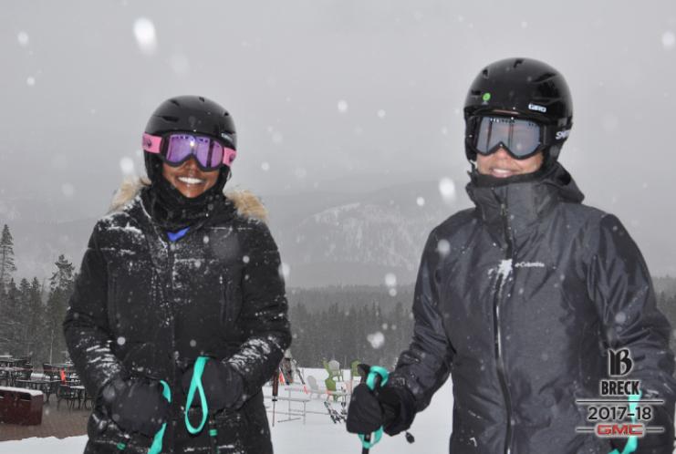 My dear friend Carmen and I skiing in Breckenridge, CO.