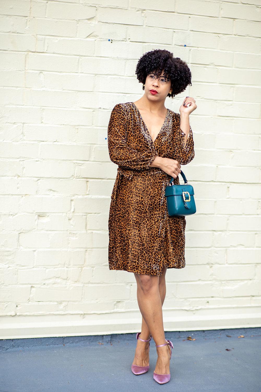 Wrap dress in drapey leopard.jpg