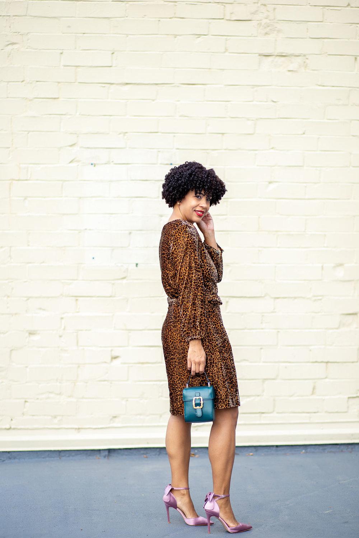 Wrap dress in drapey velvet blush leopard.jpg