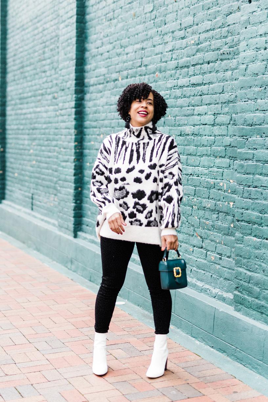 Anima Print Winter Sweater
