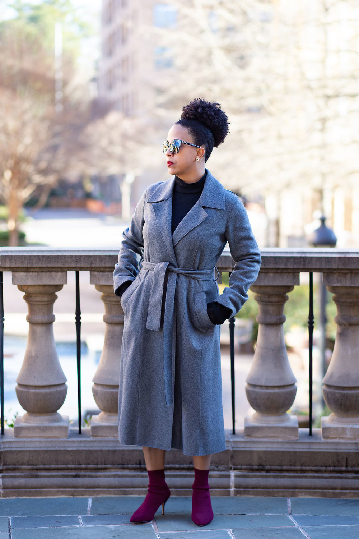 Mock neck midi dress with trench coat.jpg