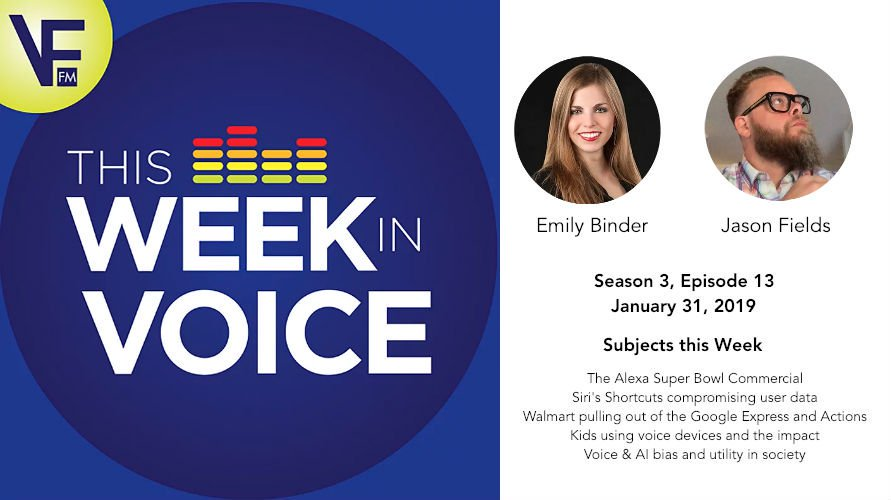 This Week in Voice Podcast: Guests: Emily Binder and Jason Fields (season 3, episode 13) with Bradley Metrock