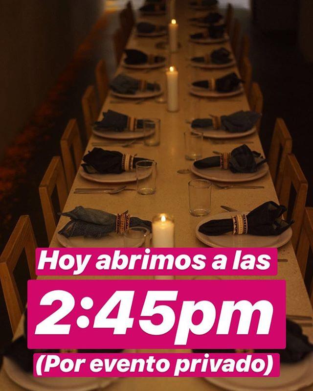 HOY MARTES 6 ABRIMOS A LAS 2:45pm PARA COMIDA. GRACIAS, TE ESPERAMOS!!!