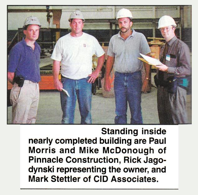 Pinnacle's team at a jobsite - 1998 - Bodycote - Andover MA