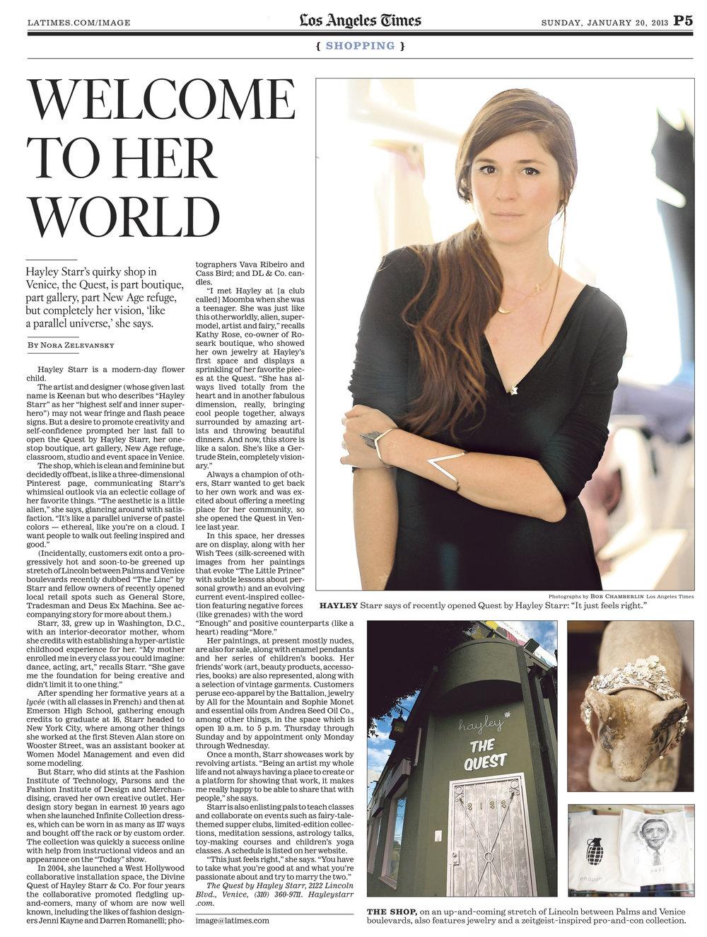 LA Times- by Nora Zelevansky (2003)